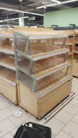 Стеллаж деревянный для хлеба 100*600 мм БУ