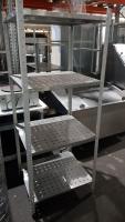 Стеллаж для посуды металлический 700*600*1800 мм БУ